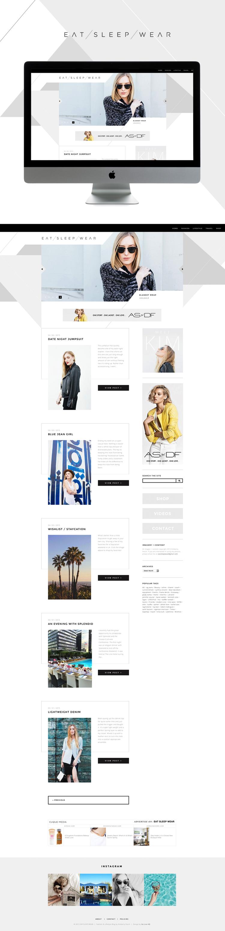 Eat Sleep Wear Is Live With Images Blog Website Design Fun Website Design