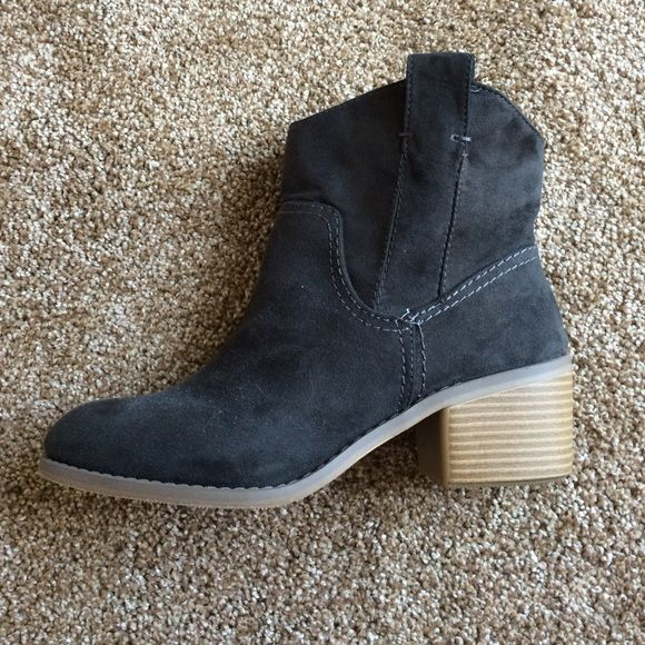 Target Merona Women's Ankle Cowboy Boots Never worn, brand new! Women's size 7.5 black suede mini-cowboy (ankle) boots. Fit true to size. Super cute & insanely comfortable! Merona Shoes Ankle Boots & Booties