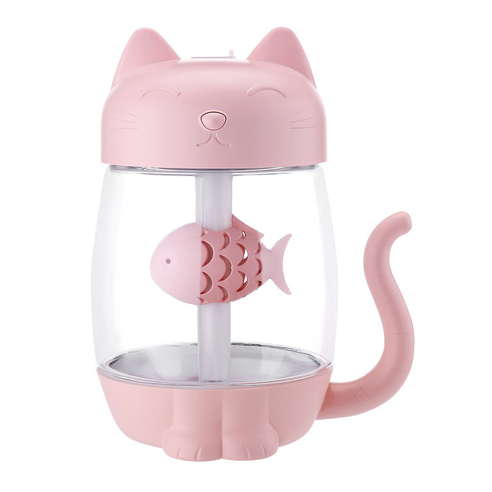 Smart Novelty 3 In 1 Humidifier Cute Cat LED Humidifier