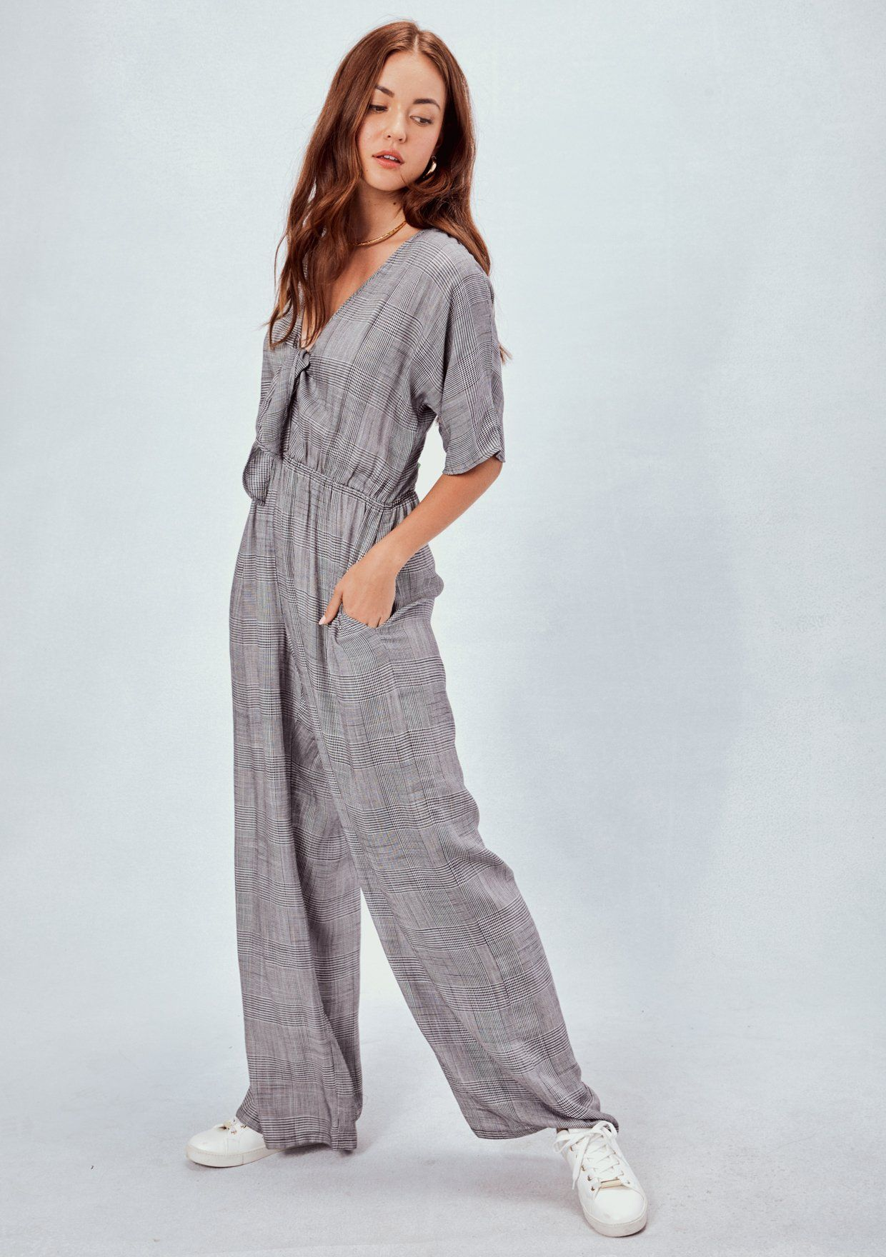 09db47429890 Yarn Dye Glen Plaid Jumpsuit