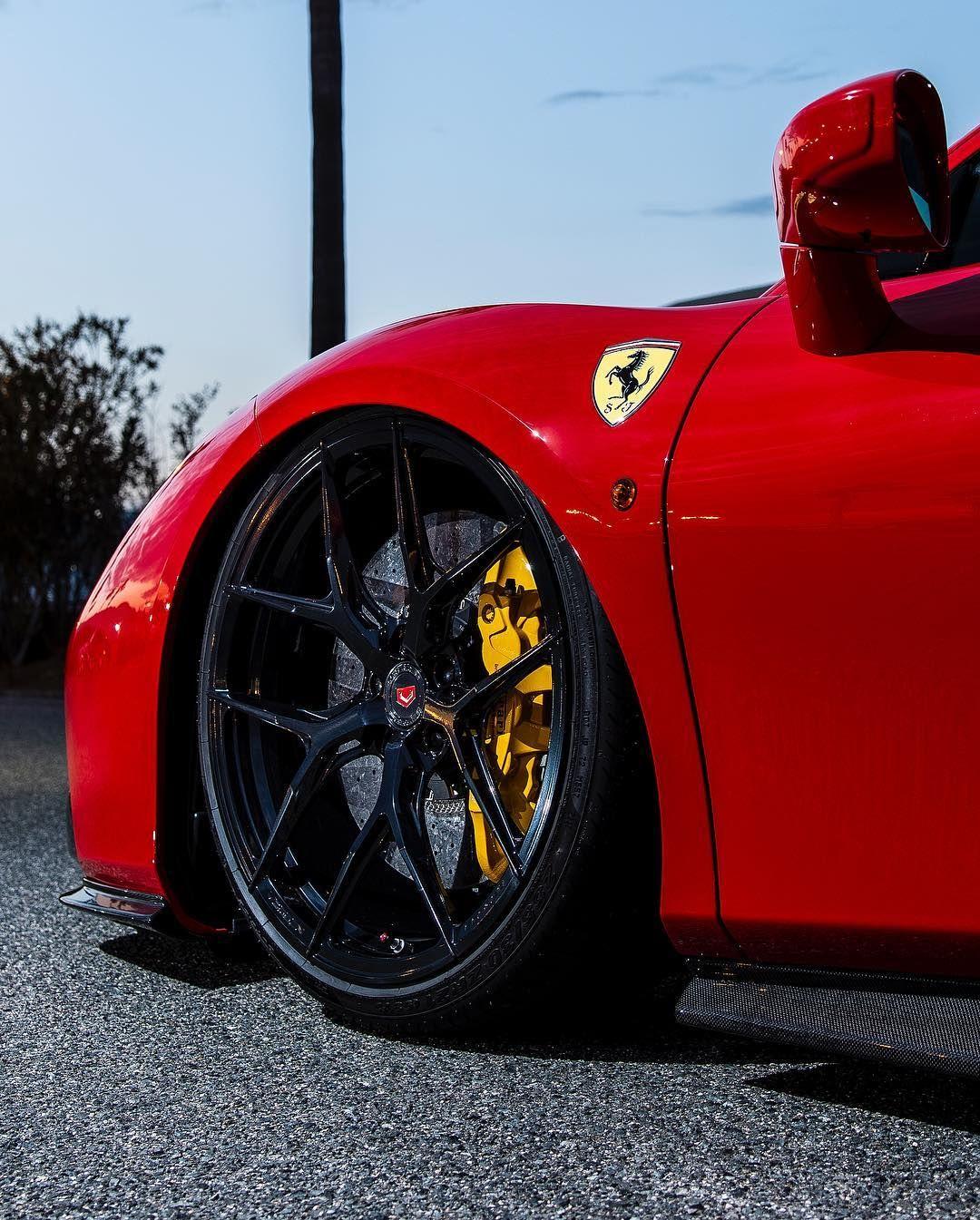 Ferrari 488 Gtb Sitting On Gloss Black Vossen Forged S21 01 S