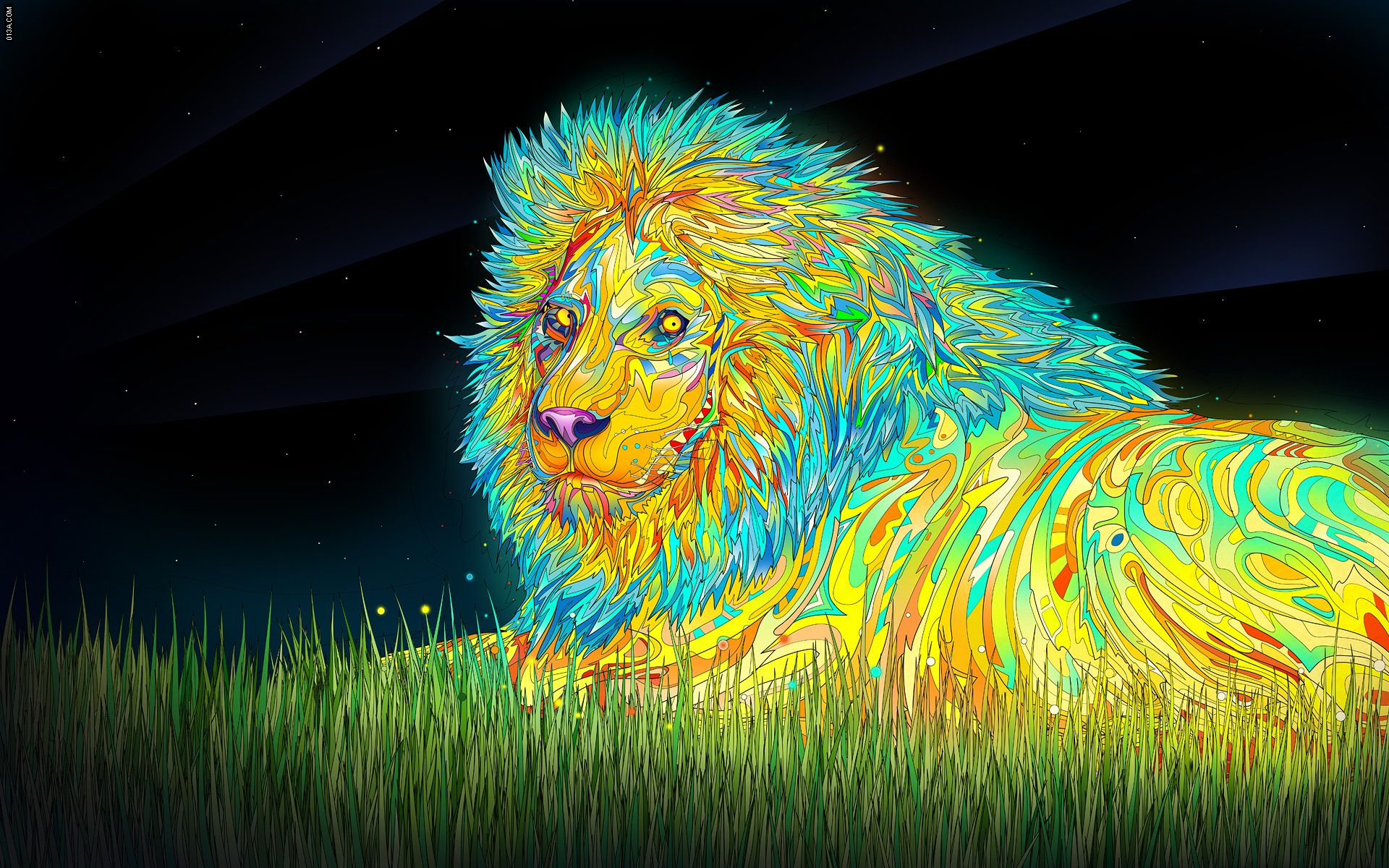 Flow my tears the lion said by Matei Apostolescu Lion