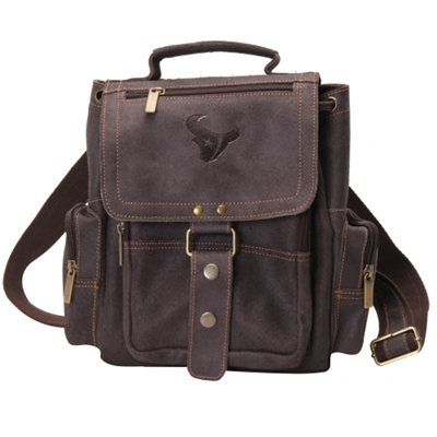 e5e0c3bb Carry all the necessities with this leather Houston Texans backpack ...