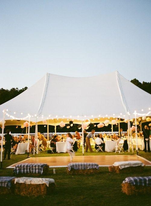 Evening Wedding Tent Lights Dance Floor More