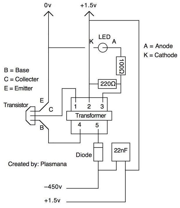 mini gerador de alta tens u00e3o usando pilha de 1 5 volts