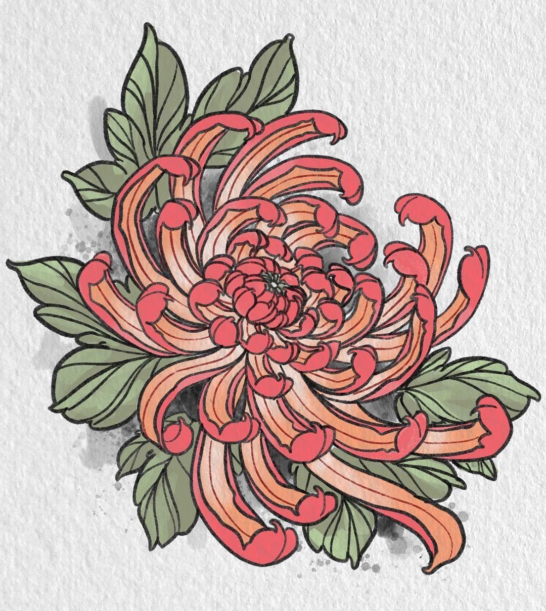 Horichou Tren Instagram Always Down To Tattoo Mums Stevestontattoocompany Booking Fo Japanese Flower Tattoo Chrysanthemum Flower Tattoo Chrysanthemum Tattoo