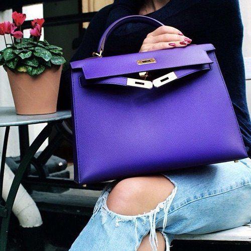 hermes sac kelly violet