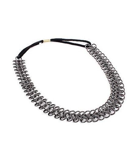 Gunmetal Chain Hair Band