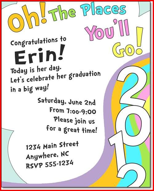 preschool graduation quotes dr seuss graduation invitations