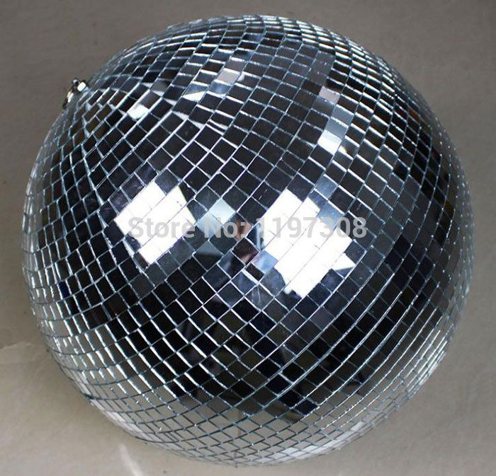 Disco Ball Decorations Cheap Adorable Buy Cheap 25Cm Diameter Clear Glass Rotating Mirror Ball 10 Disco Design Inspiration