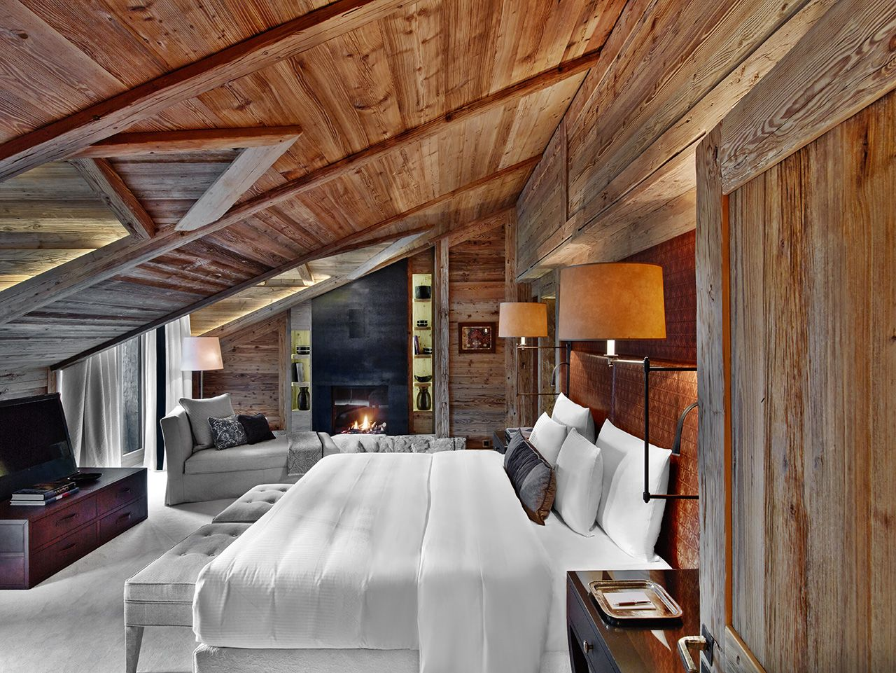 Guestroom Alpina Gstaad Switzerland Interior
