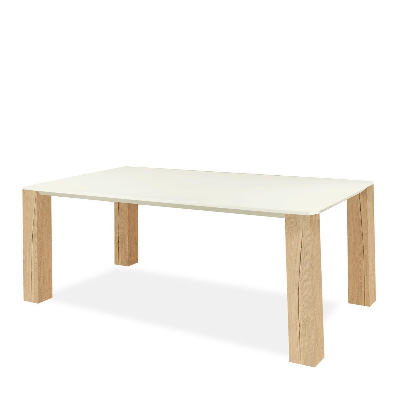 Holz Le Design table de salle à manger pour 6 personnes le plateau est fabriqué en