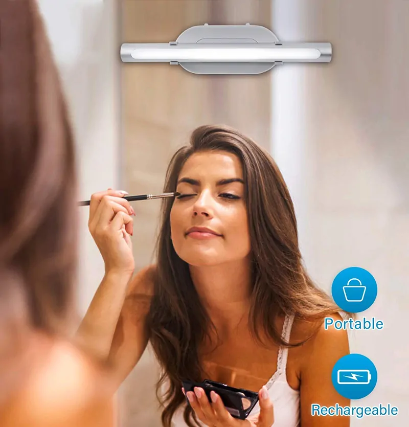 LED Lighted Makeup Mirror with 1 X 5 magnifying mirror