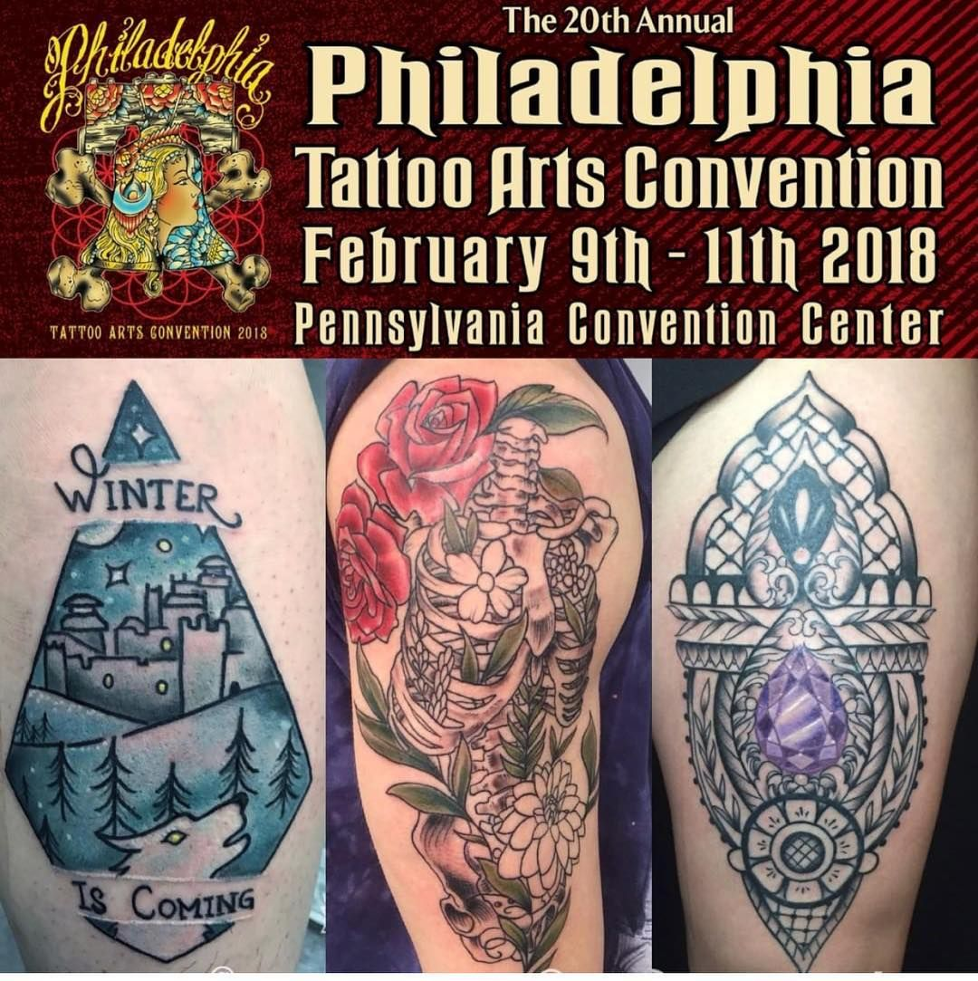 Super excited to be tattooing at the @villainarts #philadelphiatattooartsconvention again this year! My books are filling up so if you are interested in booking with me for the #phillyconvention2018 visit me at www.tattoosbytomma.com. I will have #stickers for sale and I will also have a book of my original designs available to tattoo! Cant wait to see everyone at the #philadelphiaconventioncenter in #February #philly #philadelphia #philadelphiaeagles #philadelphiaconvention #villainartsconventi