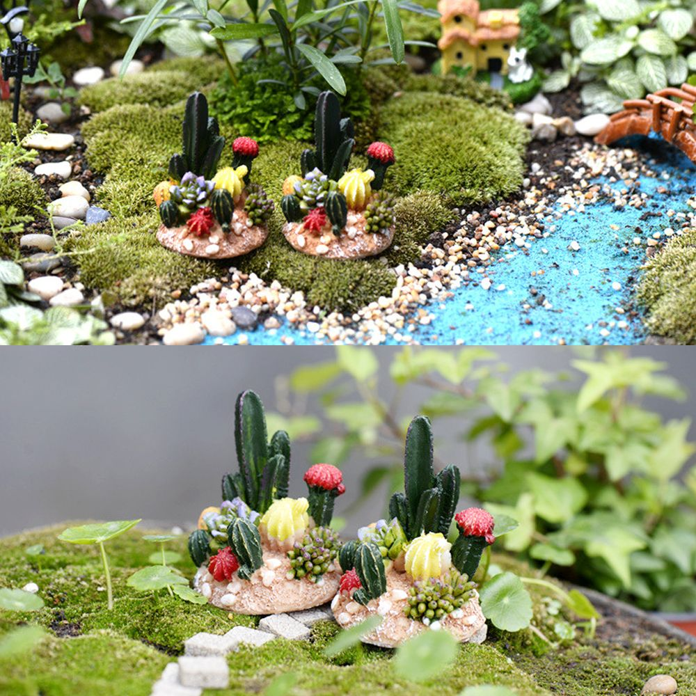 Miniature Garden Dollhouse Craft Ornament Home Decor Resin Plant Potted Gift