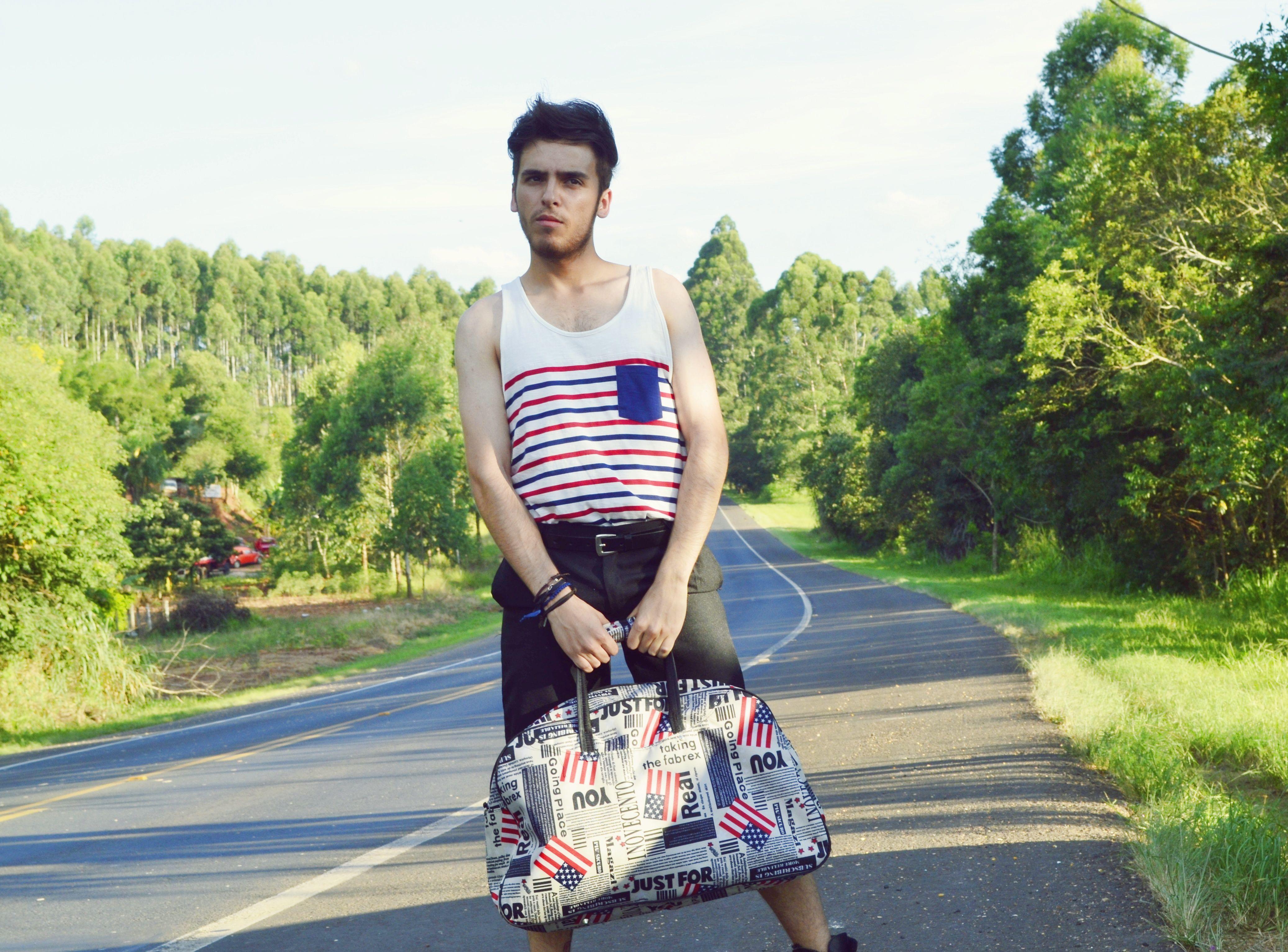 #navy #moda #man #bandeirismo #bag