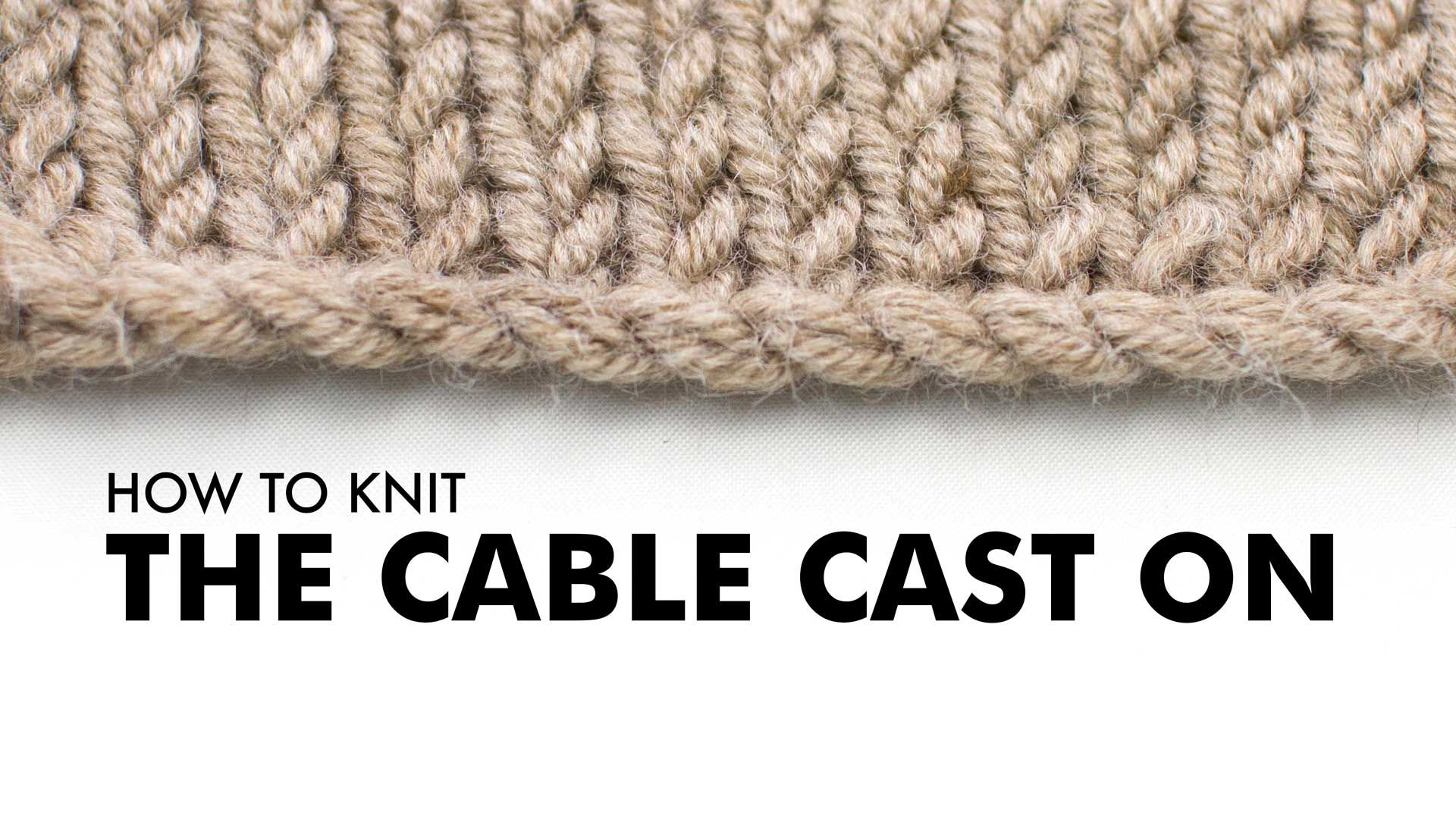 The German Twisted Cast On    Cast On  5    New Stitch A