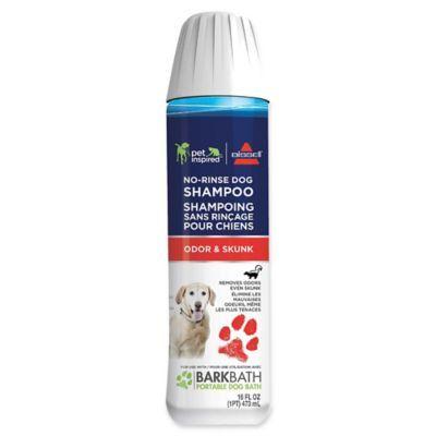 Bissell Bark Bath Odor Skunk No Rinse Dog Shampoo Clear Dog