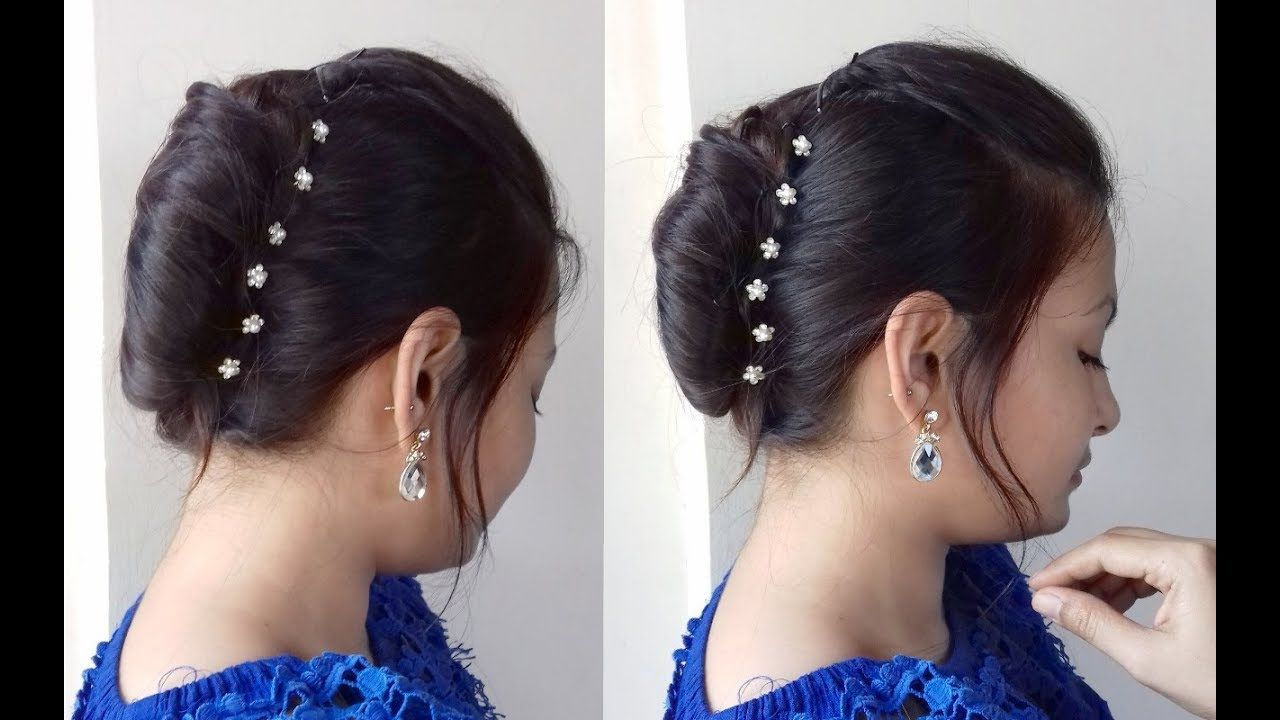 Quick French Bun French Roll French Twist In Hindi Ramzan Eid Special Hairstyle Alwaysprettyuseful Youtu French Twist Hair French Roll Hairstyle Hair Styles