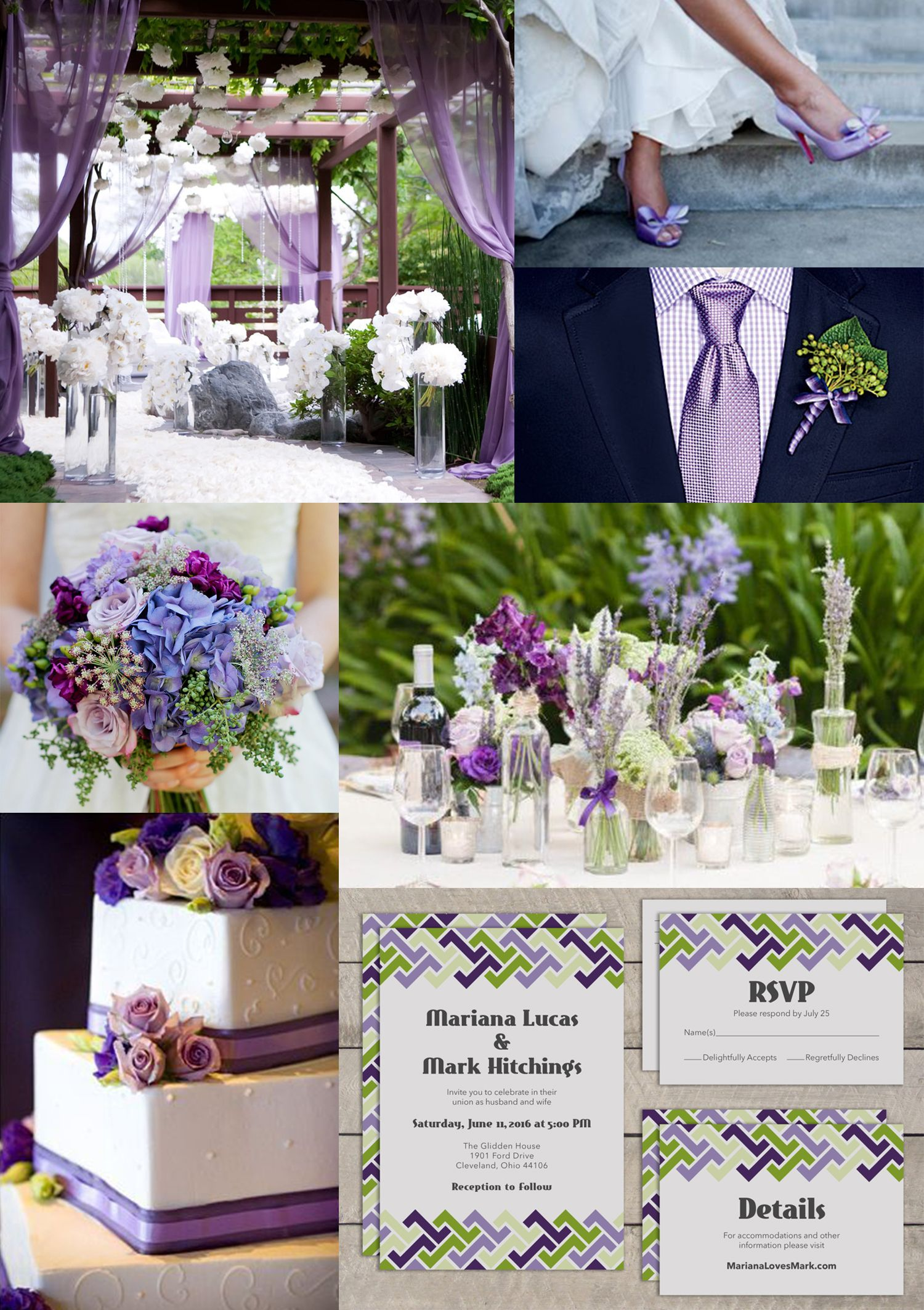Lavender Purple And Green Wedding From Top Left Purple Garden