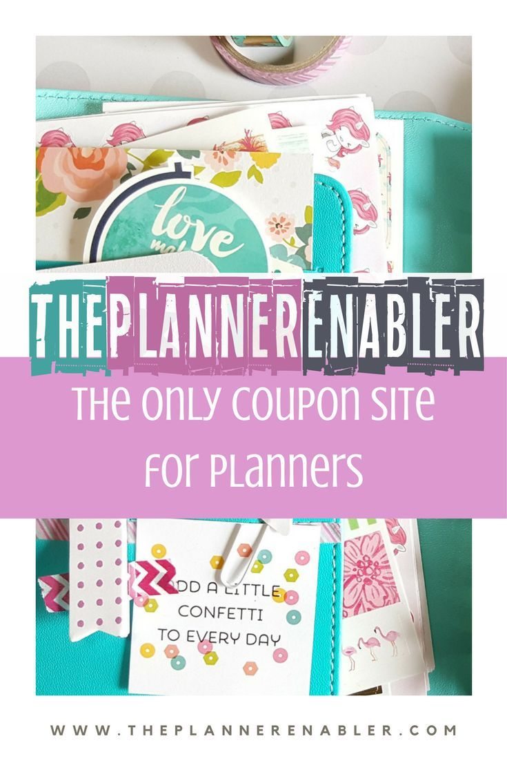 The Planner Enabler The Deal Sale And Coupon Site For Planners For All Planners Happy Planner Erin Condren Planner Stickers Mini Planner Personal Planner