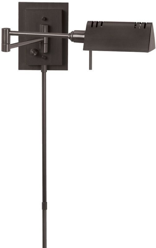 Dainolite Oil Brushed Bronze Swing-Arm Wall Lamp With Bulb DLHA654W-OBB