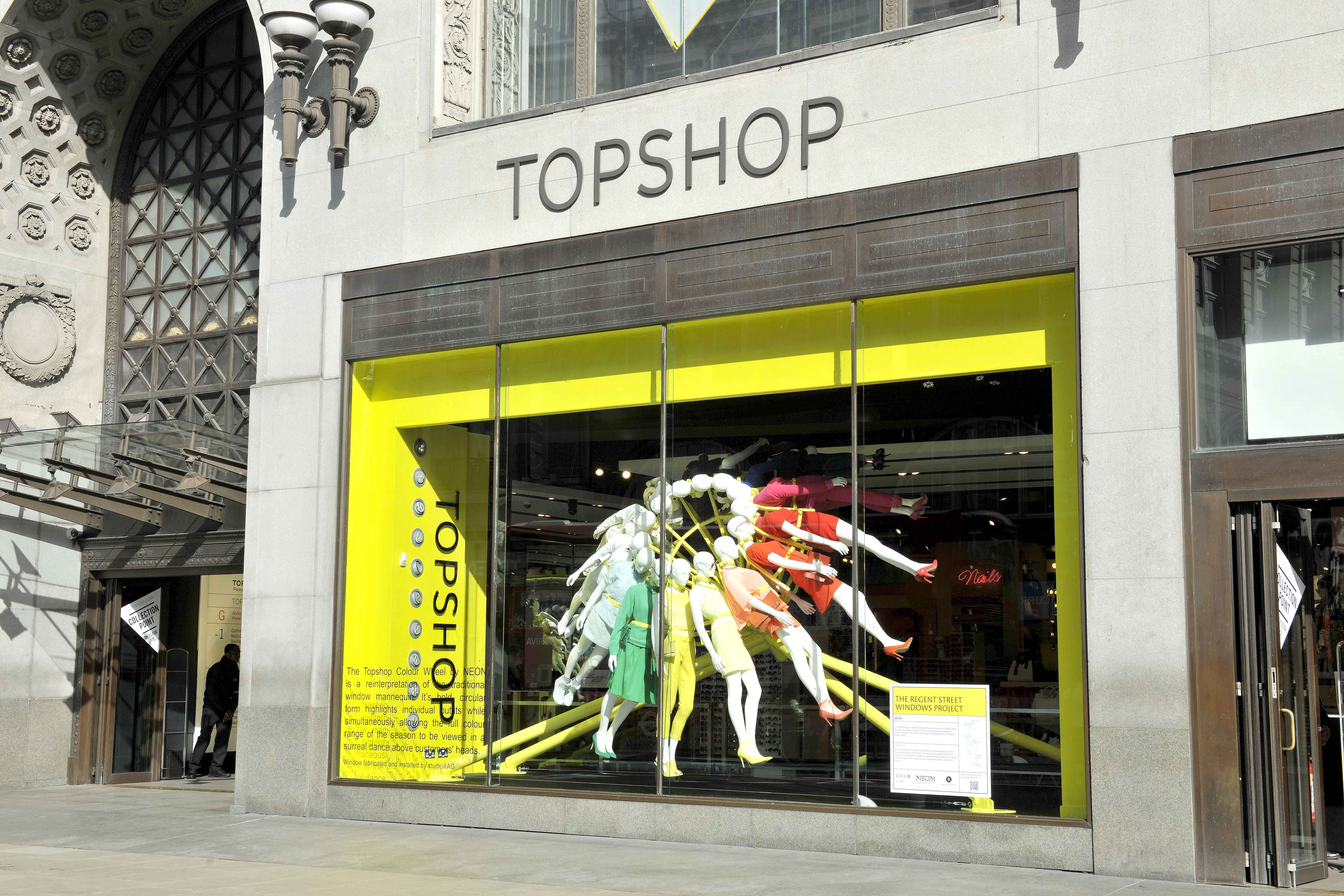The regent street windows project 2012 - Topshop Windows Are Inviting And Eye Catching