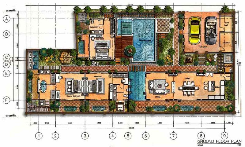 Bali Style Villa House Plans House Design Ideas