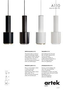 Artek Catalogue Pendant lamp A110 | Pendant lamp, Aluminum