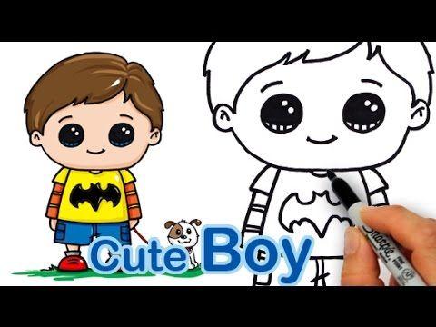 How Draw A Cute Boy Easy Cute Boy Drawing Boy Drawing Drawing Videos For Kids