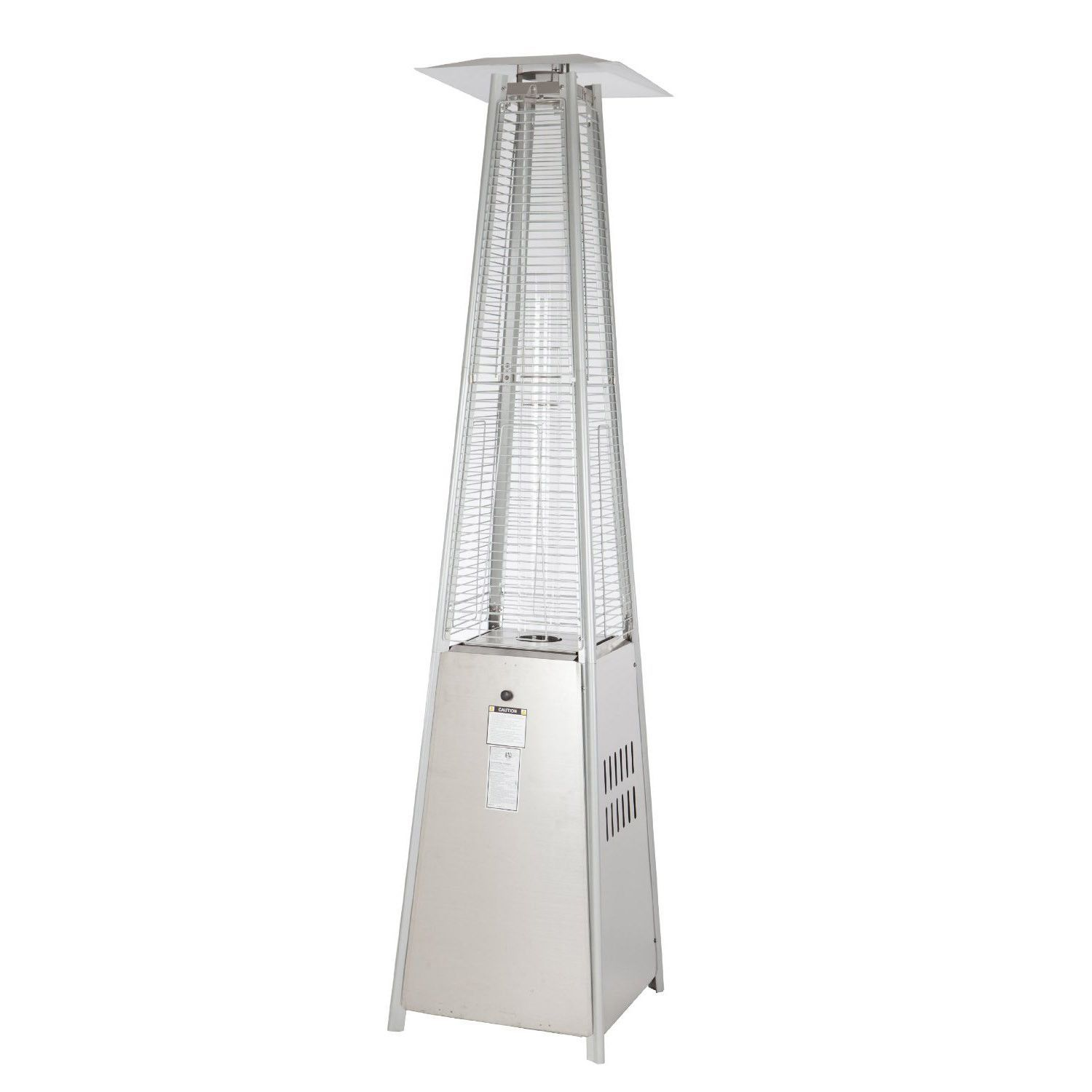 Fire Sense Stainless Steel Pyramid Flame Propane Patio Heater