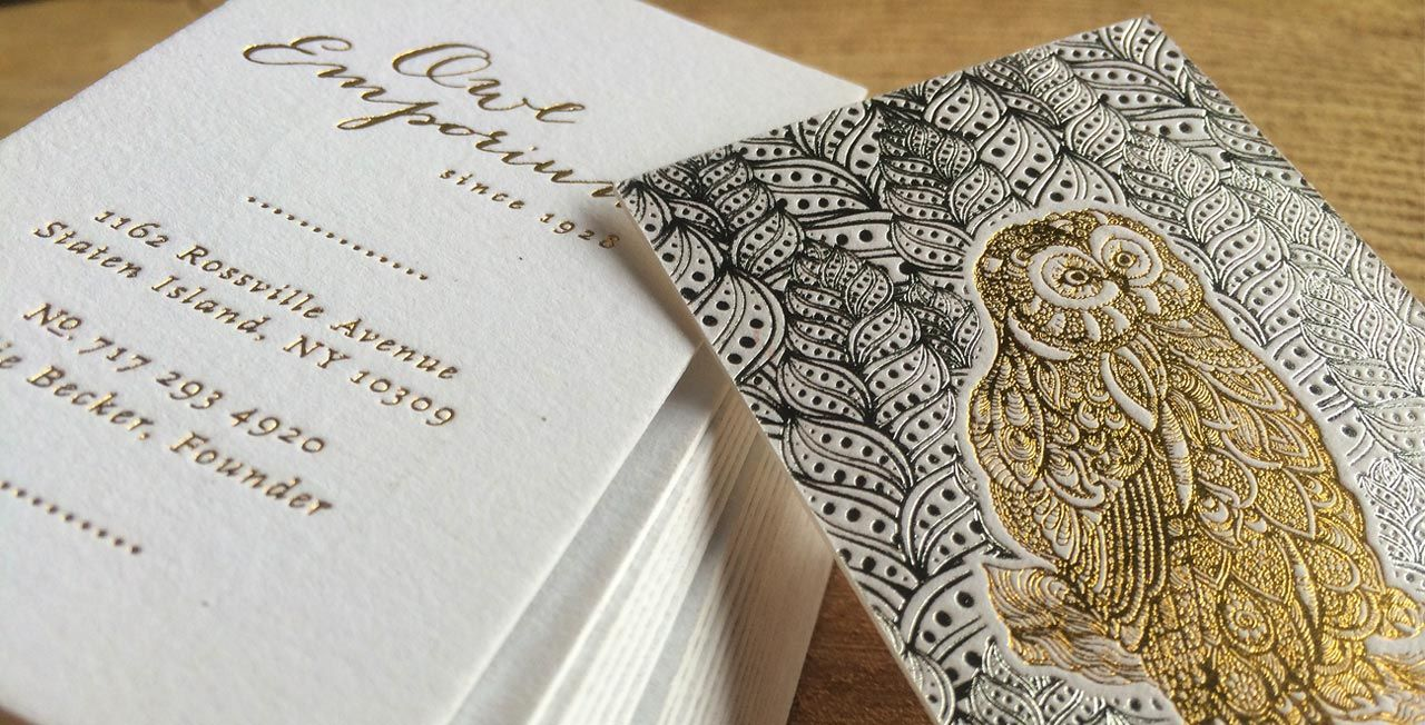 Gorgeous foiled business cards for \