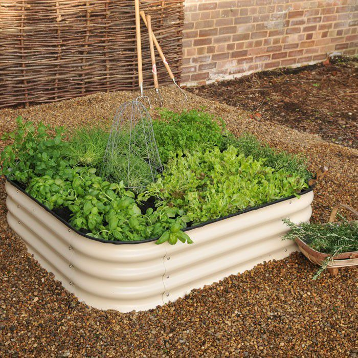 Raised Beds, Colorful Garden