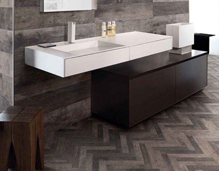 Florida Tile Cellar Conestoga Wood Look Porcelain Floor Wall Bathroom