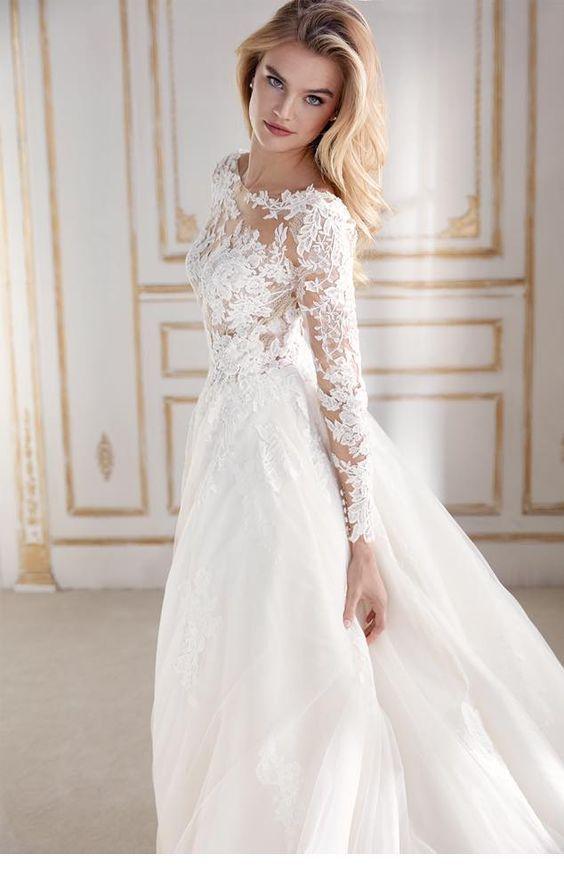 Brautkleid mit langen Ärmeln | Inspirierende Damen ...
