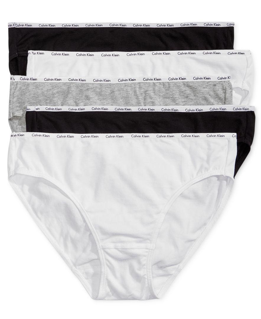 4dc200ddd92a4 Calvin Klein 5-Pk. Cotton-Blend Bikini QP1094M