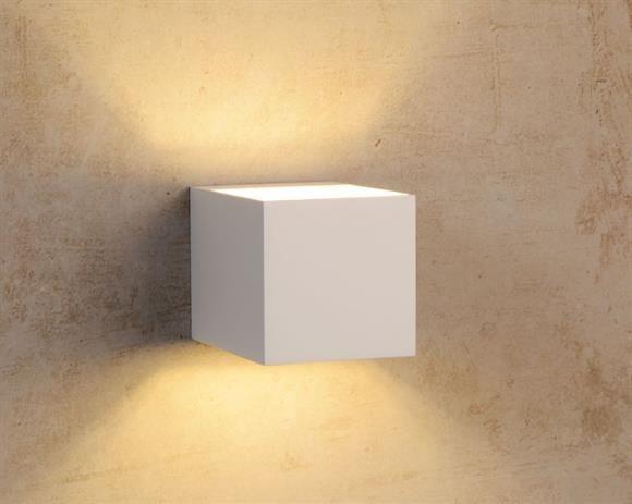 Applique lampada da parete cubo bianco moderno per interni casa