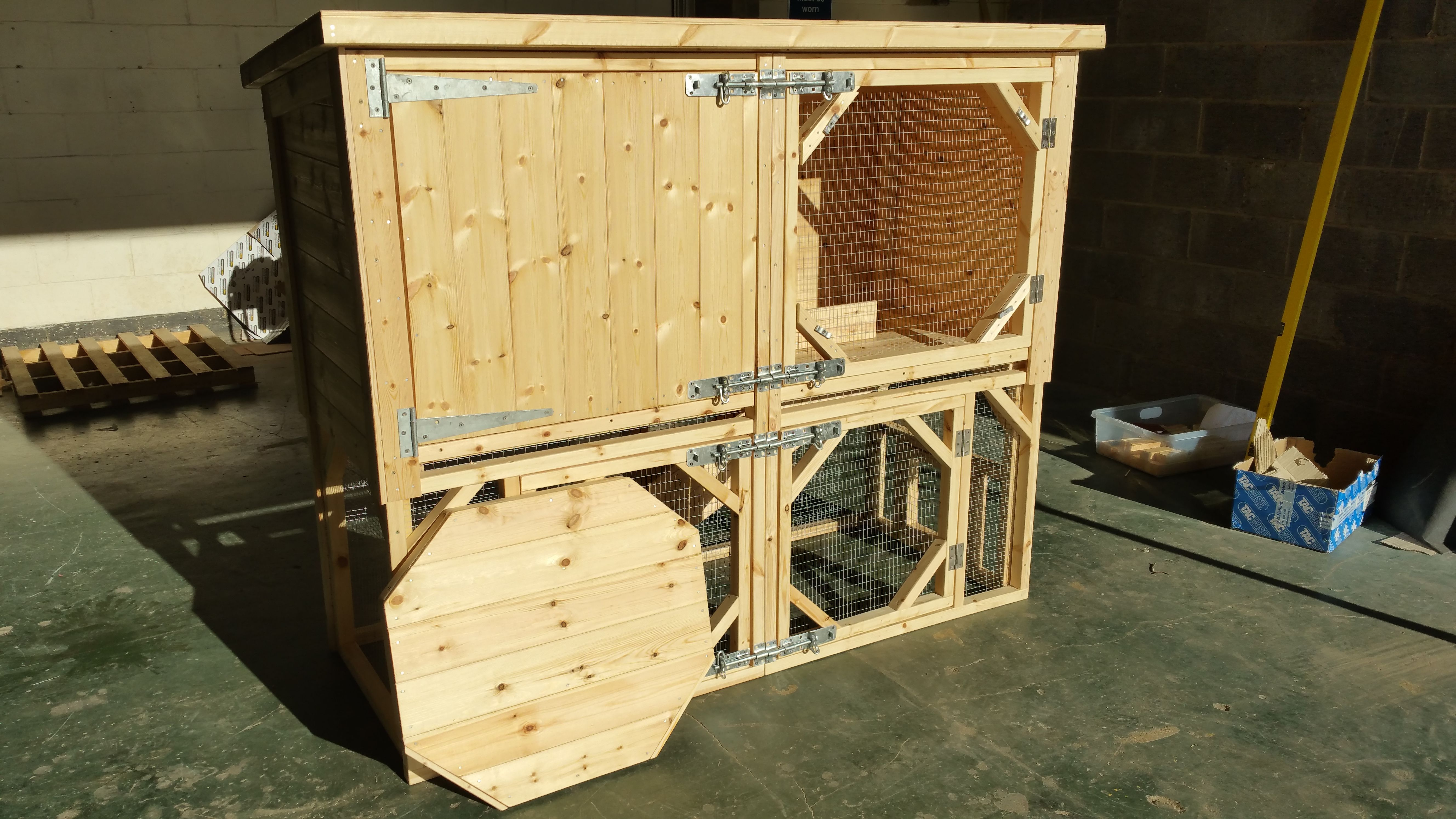 for rabbit building hutch housing plans solid pin outdoor a wood rabbits two