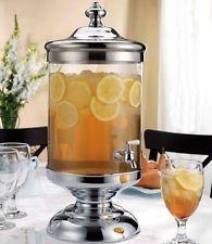Godinger Shannon Crystal 2.5 Gallon Glass Beverage Dispenser Infusion Jar - New 73.25 £ = 690 kr