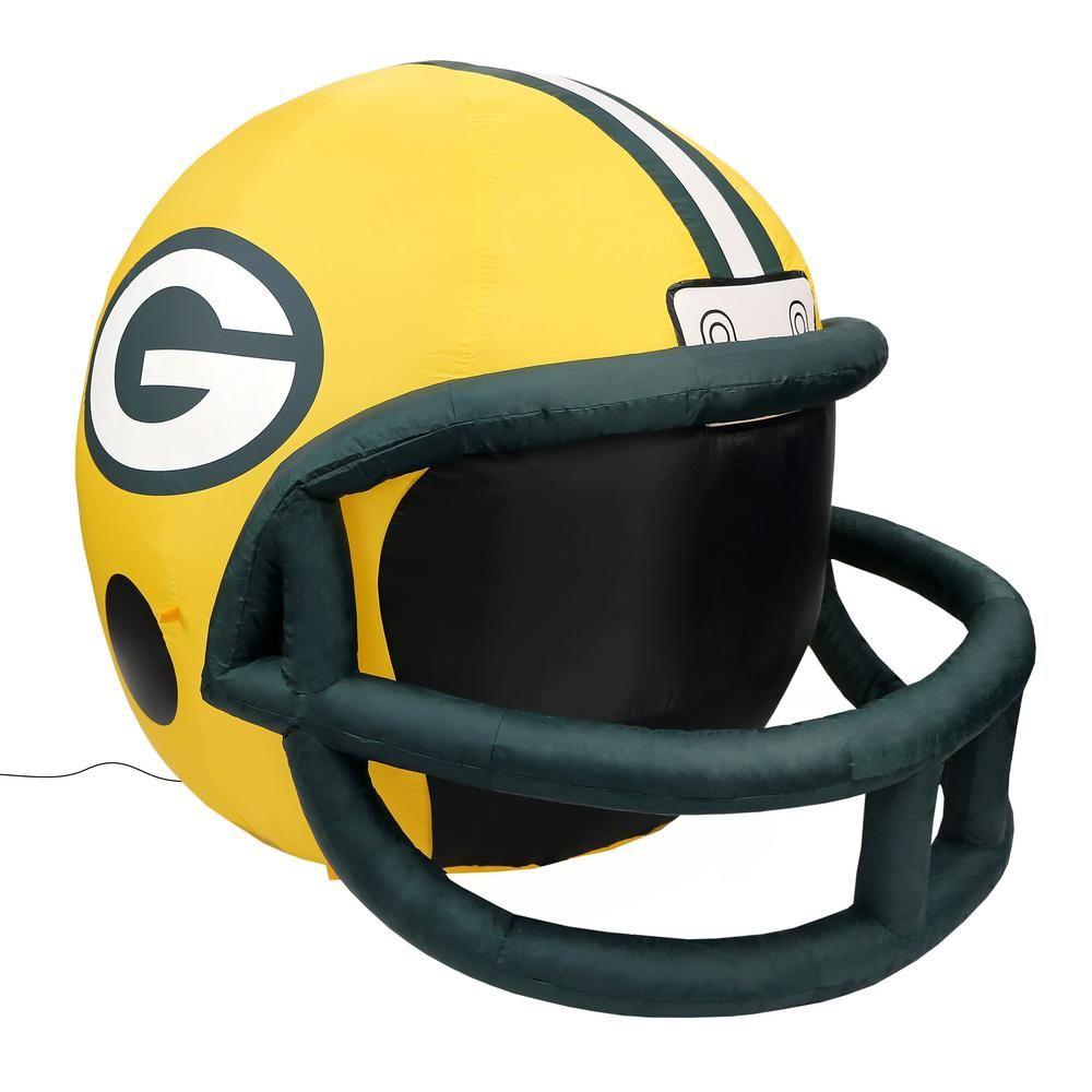 Nfl Greenbay Packers Inflatable Helmet Green Bay Packers Helmet Football Helmets Packers Team