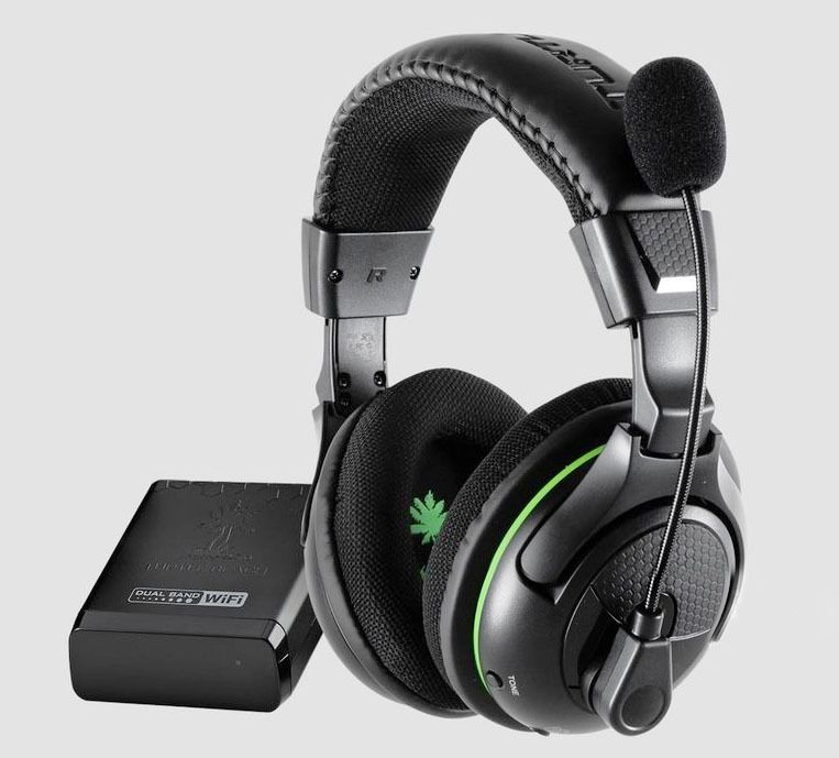 Turtle Beach Ear Force X32 Black Green Headband Headsets For Microsoft Xbox 360 Turtlebeach Wireless Gaming Headset Gaming Headset Xbox Headset
