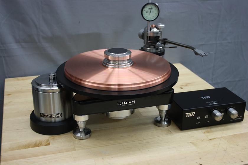 Ttw Gem Cu9999 Pure 42 Lb Copper Platter Dc Servo Rim Drive Digi Servo Controller 10 Inch Avro Tone Arm Turntables Turntable Audiophile Turntable Pure Products