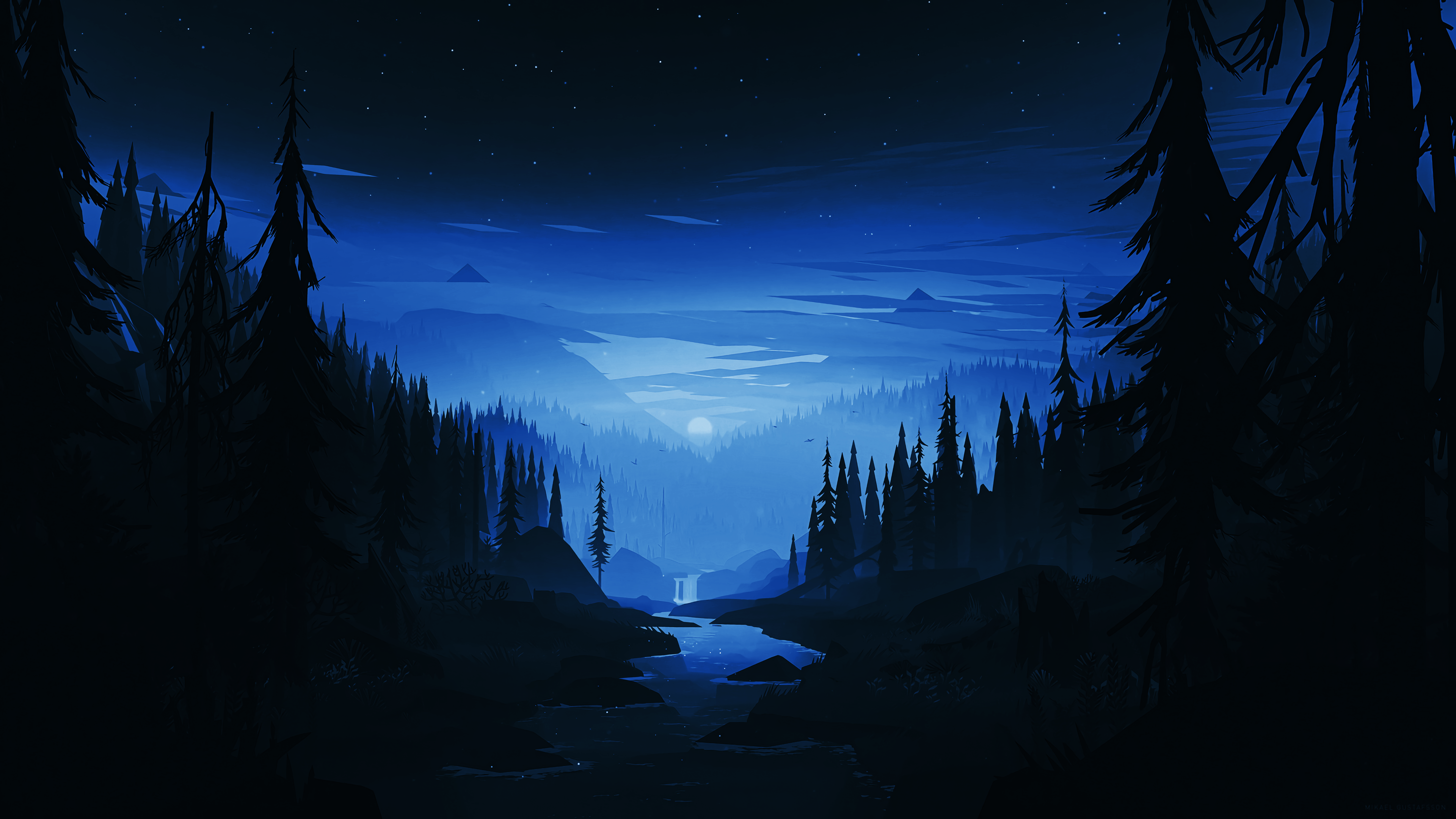 Winter Themed Version Of That One Wallpaper 7680x4320 Edit Made By U Hyperactive1duk Dark Landscape Landscape Wallpaper Desktop Wallpaper Art