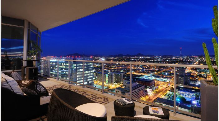 Scotsdale Arizona Downtown Penthouse Apartments For Rent In
