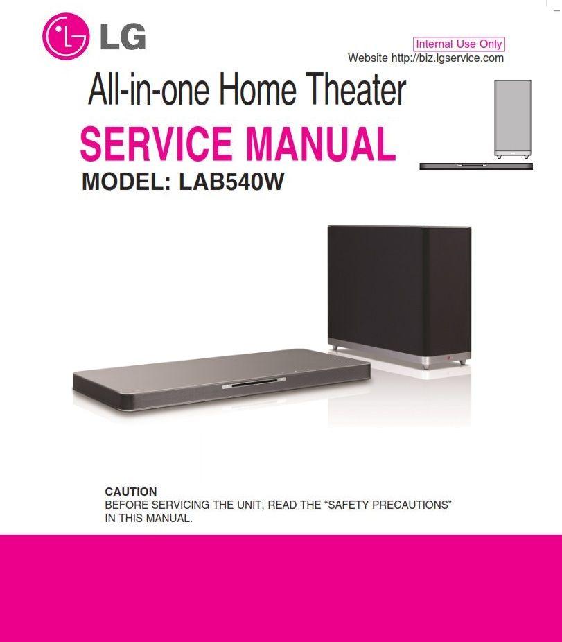 Lg Lab540w Soundplate Service Manual And Repair Guide Repair Guide Network Software Repair