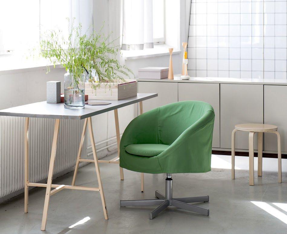Skruvsta Chair Cover In Grass Green Panama Cotton. Www.bemz