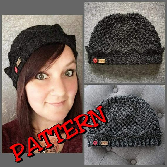 Crochet Jughead Beanie Pattern - Includes photo and video turorials for the  Brim 55040140bd8