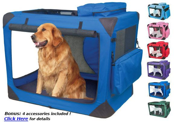Portable Collapsible Dog Crate Kennel Travel Pet Crates Cosas