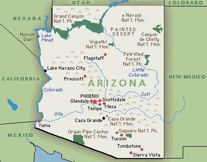 Wikipedia Arizona Is Located In The Southwestern United States - Grand canyon location on us map