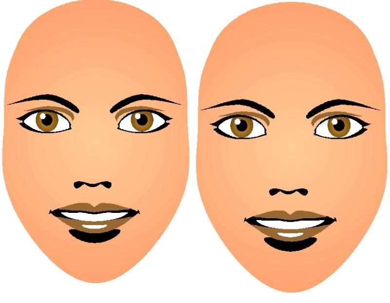 Looking for the printable blank faces | Face painting ...
